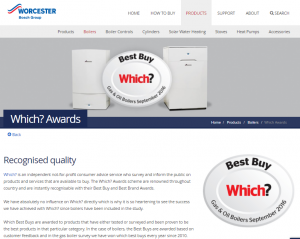 Do you know…? We fit Which? Best Buy boilers